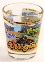 VIRGINIA STATE WRAPAROUND SHOT GLASS SHOTGLASS