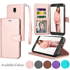 For Samsung Galaxy J7 2018 /J7 Aero/J7 Aura/Top PU Leather Flip Card Wallet Case