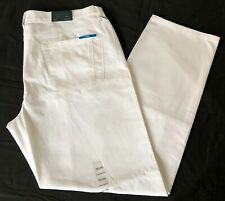 New Men's Perry Ellis Slim Fit Stretch Pants, White 36x30.