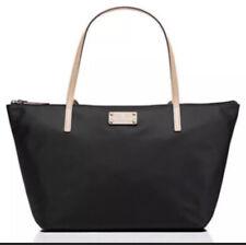 Kate Spade Black Nylon Leather Trim Sophie Kennedy Park Tote Handbag