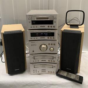Technics SC-HD510 SC-HD310 Stack Hi-FI System Speakers Unit CD Tape Minidisc