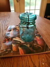 Old 1976 Ball Jar With Glass Lid Wired Shut Canning Magazine Literature vintage