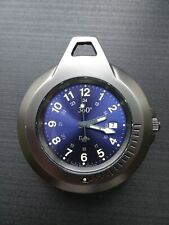 Modern Pocket Watch Mens Womens Unisex Telux Gamma Titanium Carbide and Steel