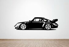 Porsche 911 Gt2 Clubsport RS 993 wall art decal / sticker. (HUGE)
