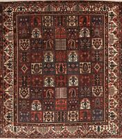Antique Garden Design Oriental Bakhtiari Area Rug Wool Hand-Knotted 10x12 Carpet