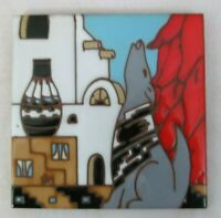 """1990 Earthtones 6"""" Ceramic Art Tile"""
