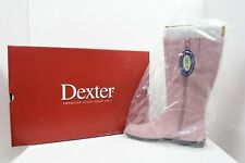 New Pink Dexter Manor Camel Kid Suede Boots Womens Size 9 D1095-87