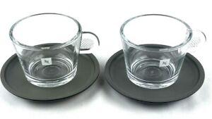 Nespresso Glass Collection Clear Demitasse Espresso Small Coffee Mug Cup Logo