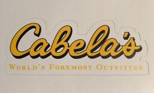"Cabela's Sticker Decal Logo 3.8"" Wide Cabela - Free Shipping - Hunting Fishing"