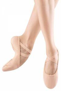 Bloch SO210L Pro Flex pink canvas split sole ballet shoes.
