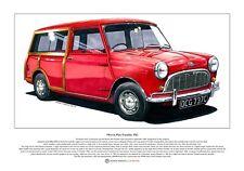 Morris Mini Traveller Mk1 Limited Edition Fine Art Print A3 size