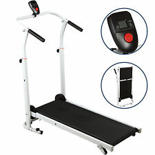 Portable Folding Manual Treadmill Incline Walking Running Fitness Gym Machine BN