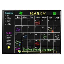 Mensual Planner Memo Tabla Pizarra Blackboard Pegatina Pared Calcomanía Calendario Nuevo