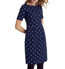 BNWT Joules Navy And White Polka Dot Beth Dress - Size 12