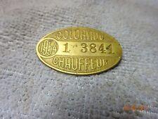 VINTAGE 1954 Colorado Chauffeur Badge Pin # 1 3841