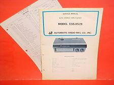 1969 AUTOMATIC RADIO CAR AUTO 8-TRACK STEREO TAPE PLAYER SERVICE MANUAL ESS-8528