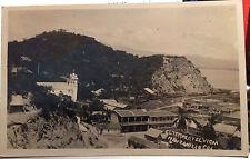 El Templo y El Vigia, MANZANILLO, Colima, MEXICO Photo Post Card 1952 CITY VIEW