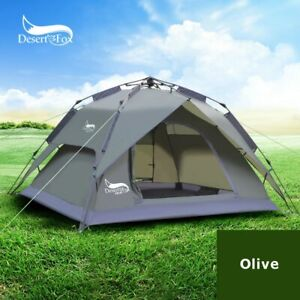 Portable Quick Automatic 3-4 Person Camping Tent Double Layer Easy Instant Setup