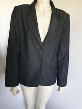 Jacqui E Dark Grey Long Sleeve Fitted BlazerJacket Size 14