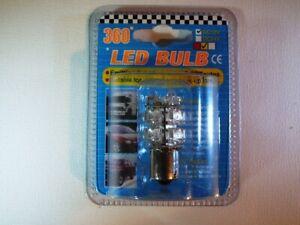 Patented Amber Super-Bright LED Single Bayonet Bulb (12 Volt) Truck Trailer Car