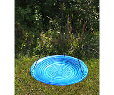 Bird Baths Blue Swirls Glass Hanging Bird Bath Se5049
