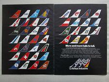 1980'S PUB AIRBUS A300 A310 A320 TAILS PIA MEA AIR AFRIQUE SABENA TOA VASP AD