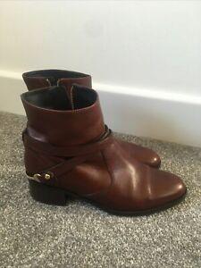lk bennett Brown Ankle Boots Size 5/38 Vgc