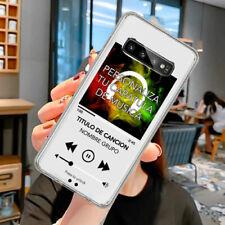 Funda Movil Samsung / Personalizada Musica Cancion Transparente Dibujo S20 S10