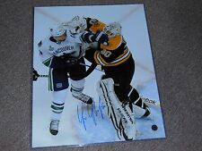 Boston Bruins Tim Thomas Signed Autographed Fight Photo 16x20