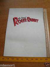 Who Framed Roger Rabbit 1988 Disney theater movie program folder