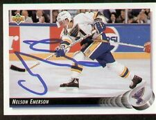 Nelson Emerson signed autograph auto 1992-93 UD Hockey Trading Card