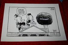 BILL CLINTON IMPEACHMENT & SANTA CLAUS WHITE HOUSE CHIMNEY1998 POLITICAL CARTOON