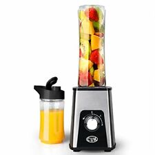 CUH Stainless Steel Personal Blender 250W with Speed Adjustment+2 Travel Bottles