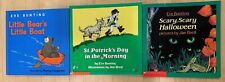 3 Eve Bunting Books Little Bear's Little Boat St. Patrick's Day in the Morning