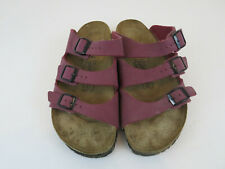 Birkis By Birkenstock Mauve 3 Strap Sandals Slides Womens Size US 10 EU 41