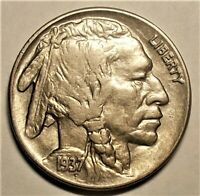 1937 About Uncirculated-Uncirculated Buffalo Nickel (79,806,000 Minted)