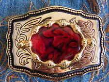 Boucles de ceinture rouge en métal pour homme