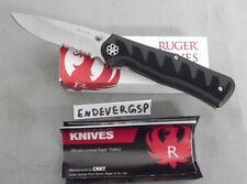 RUGER KNIFE BY CRKT R1206 STEIGERWALT COMPACT CRACK-SHOT THUMB STUD ASSIST NEW!!