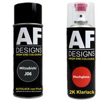 Autolack Spraydose Set Mitsubishi J06 Burma Black Perl Metallic  Basislack 2k Kl