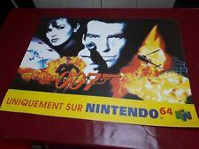 Plv Nintendo 64 007 Goldeneye World affiche magasin plastique Display Collector