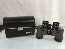 Vintage Jason Sateman Model 138 Binoculars 7x35 Extra Wide Angle 11.5 With Case