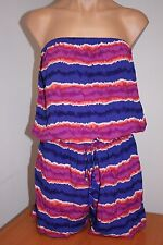 NWT Tommy Bahama Swimsuit Cover Up Romper Sz S Paint Stripe Multi Bandeau