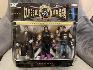 WWE Jakks Classic Superstars Undertaker Three Pack NEAR MINT MOC!!