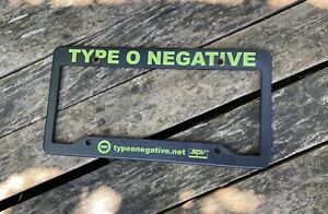Type O Negative License Plate Frame Dead Again RARE!! Only 250 Made!!!