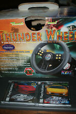 PS1 THUNDER WHEEL WITH FOOT PEDALS by NAKI + Need For Speed 2 & 3 Games COMPLETE
