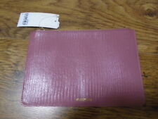 Cute dusky pink textured leather clutch bag, WHISTLES, NEW with TAG