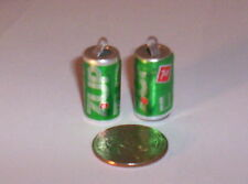 2 Vintage 7-UP Soda Can Gumball Vending Charms Crafting Jewelry Etc