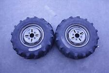 2004 YAMAHA 400 KODIAK 4X4 ULTRAMATIC ATV FRONT WHEEL WHEELS RIM TIRE PAIR 04