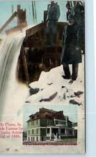 Belle Plaine, Ia Iowa Herring College/ Artesian Well c1910s Postcard
