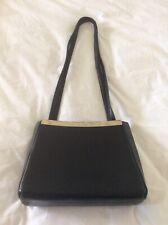 Vintage Pierre Cardin Black Leather Shoulderbag Fabulous Condition